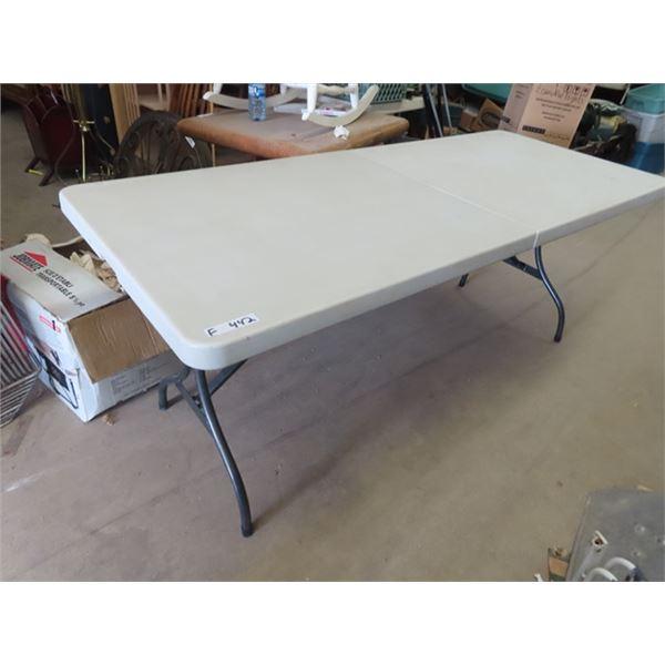 "(F) Poly Folding Leg Table 30"" X 72"""