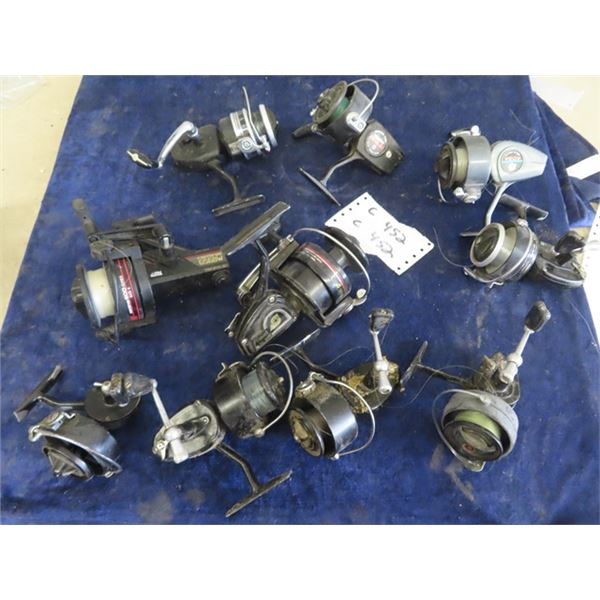 10 Fishing Reels- 3 Mitchell 300, 1) Mitchell 324 1) Mitchell 304, Cardinal 656BW, Omni XL300, Daiwa