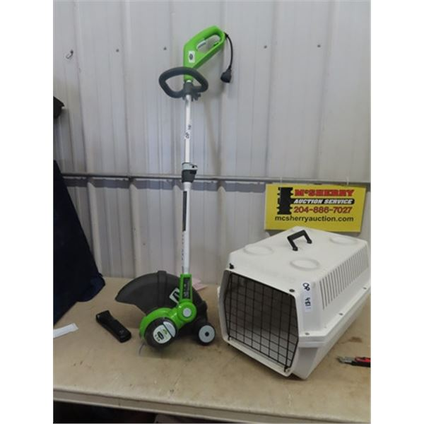 Greenworks Elec Grass Whip & Pet Kennel