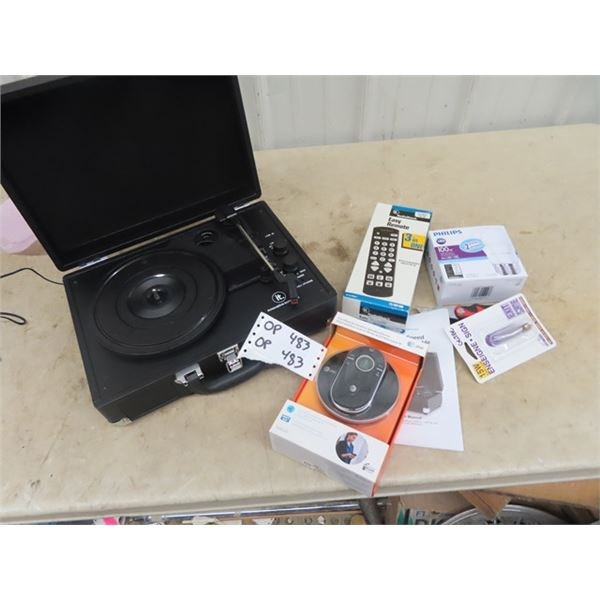 Innovated Technology Record Player, Cordless Acccessory Speaker Phone Plus