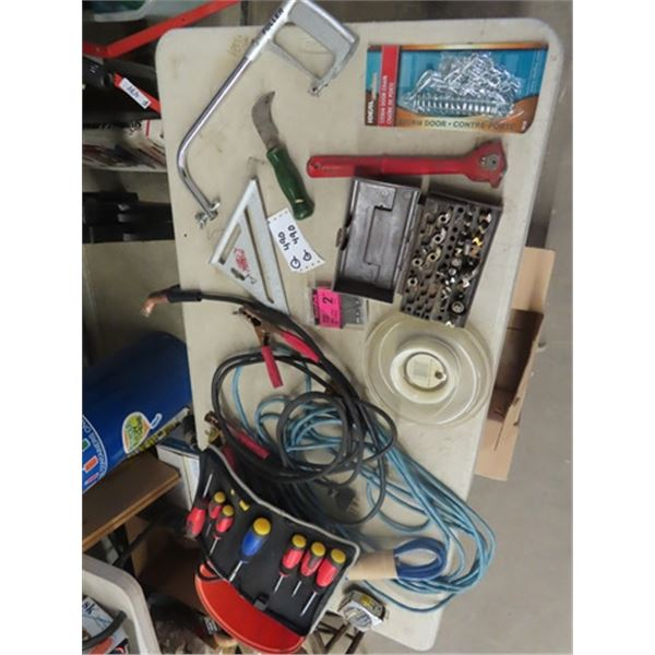 Router Bits, Screwdrivers, Extension Cords, Booster Cables Plus More!