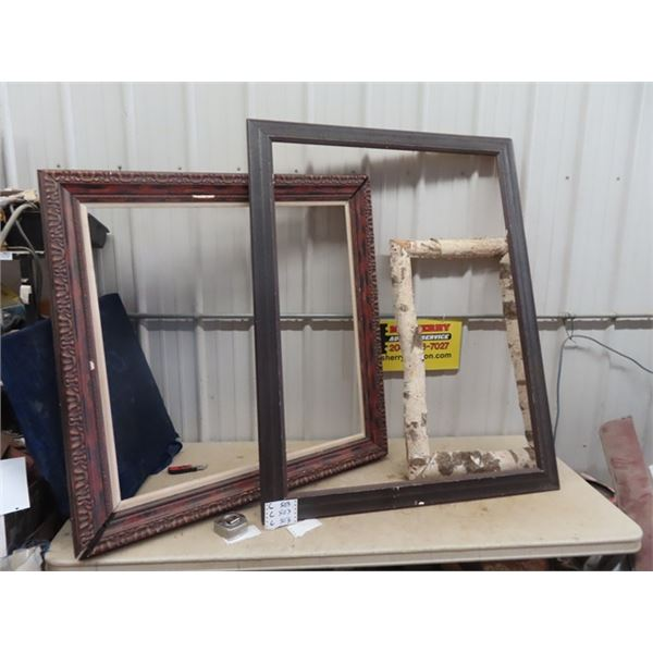 """3 Large Picture Frames - Biggest is 42"""" x 54"""""""