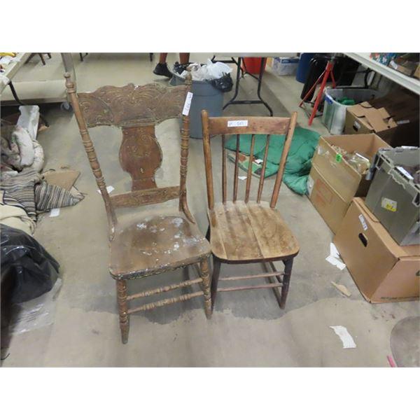 2 Wooden Kitchen Chairs