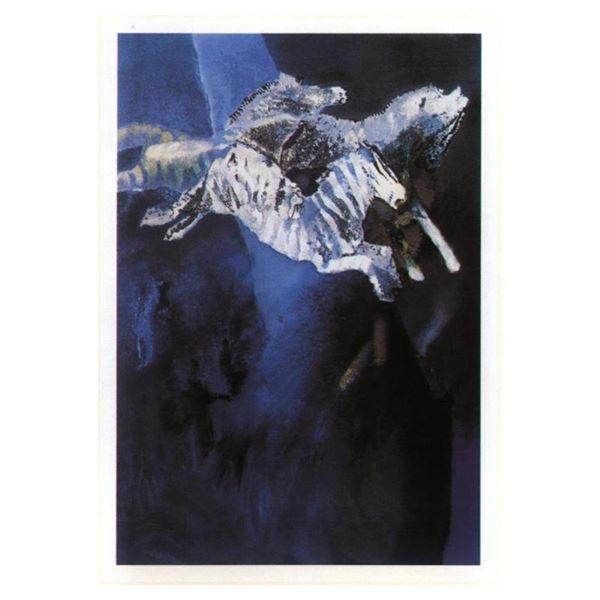 Zebras in Blue by Salomon, Edwin