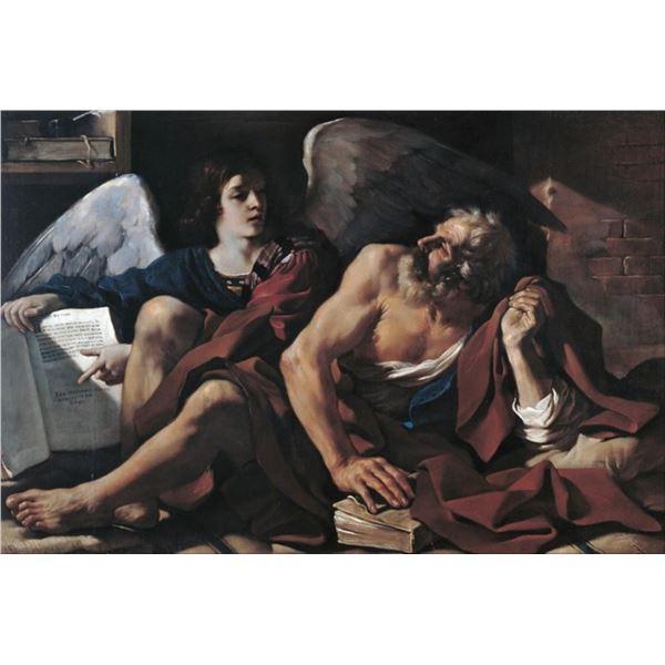 Guercino - Saint Matthew and the Angel