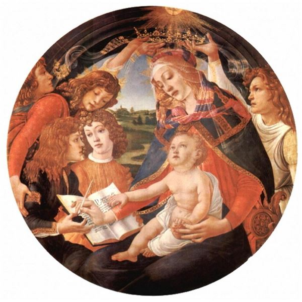 Sandro Botticelli - Maria with Christ child and Five Angels