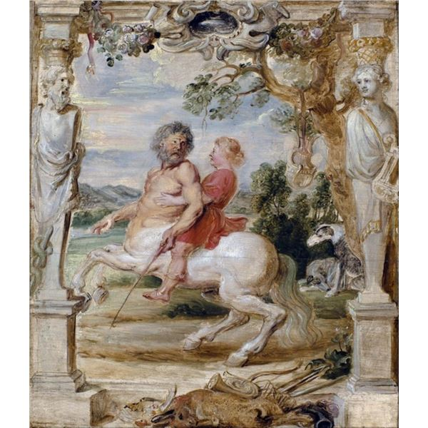 Sir Peter Paul Rubens - Achilles Educated by the Centaur Chiron