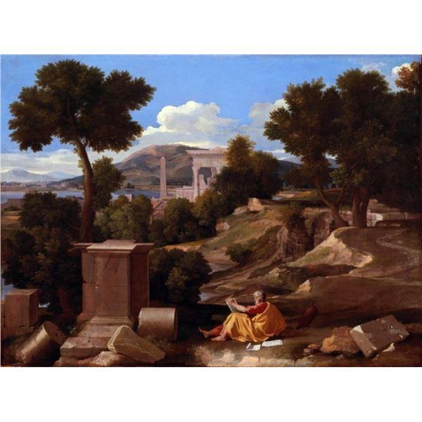 Nicolas Poussin - Landscape with Saint John on Patmos