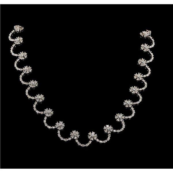 9.02 ctw Diamond Necklace - 14KT White Gold