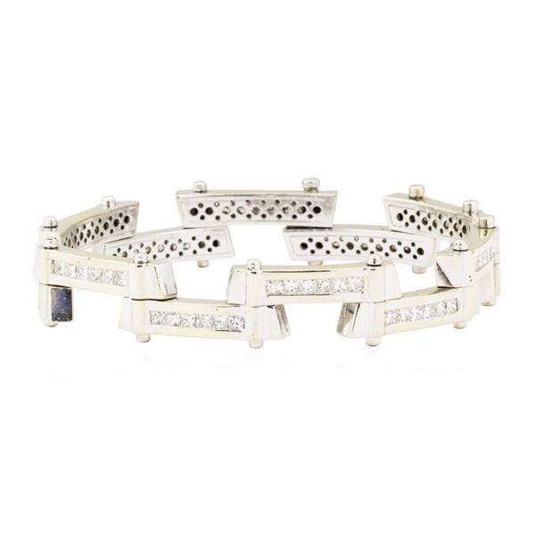 7.75 ctw Diamond Staggered Bar Bracelet - 18KT White Gold