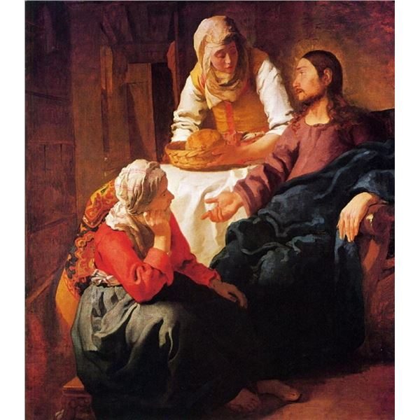 Johannes Vermeer - Christ in the house of Mary and Martha
