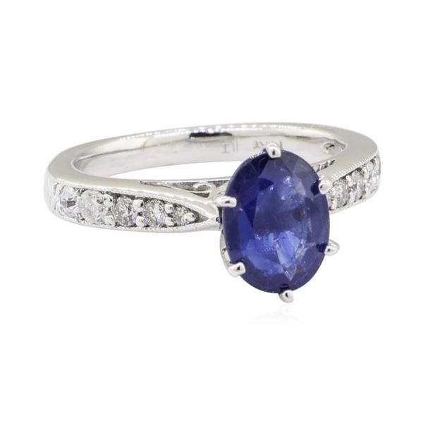 2.06 ctw Sapphire and Diamond Ring - 14KT White Gold