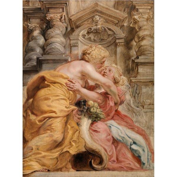 Sir Peter Paul Rubens - Peace Embracing Plenty