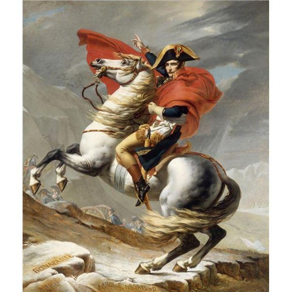 Jacques-Louis David - Bonaparte Crossing the Grand Saint-Bernard Pass