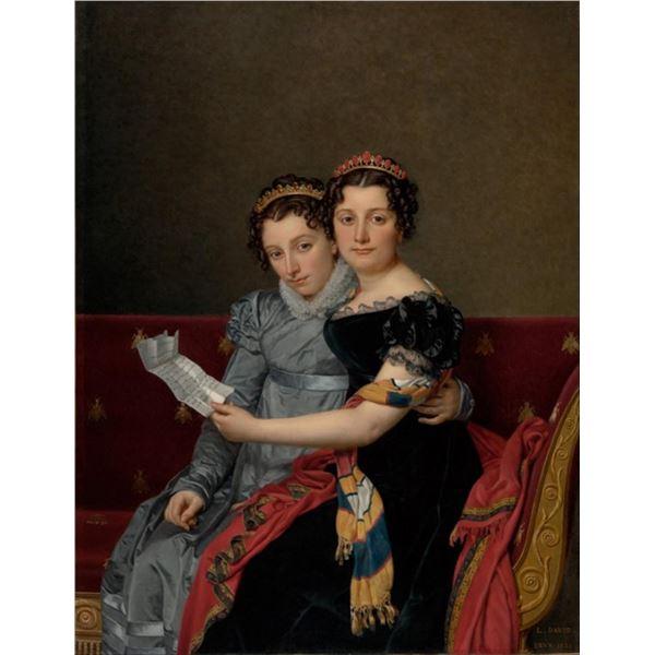 Jacques-Louis David - The Sisters Zenaide and Charlotte Bonaparte