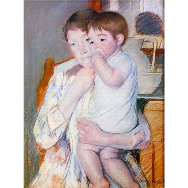 Mary Cassatt - Baby On The Arm Of The Mother