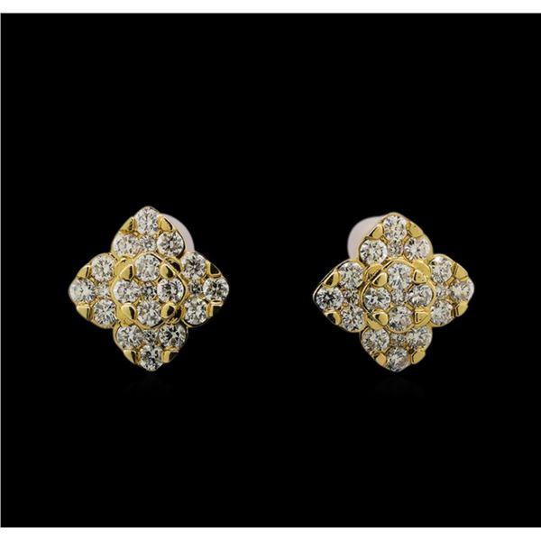 14KT Yellow Gold 0.70 ctw Diamond Earrings