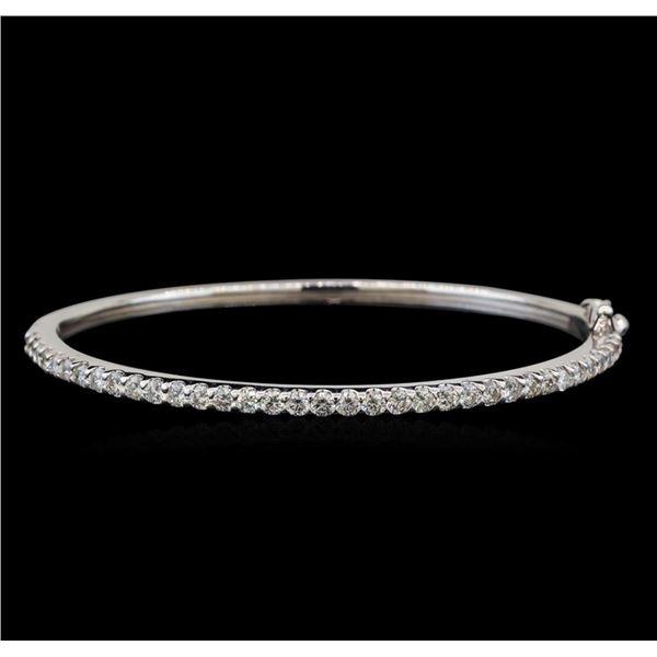 14KT White Gold 2.30 ctw Diamond Bangle Bracelet
