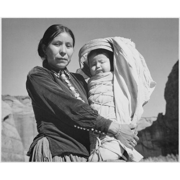 Adams - Dinee Woman and Infant, Canyon de Chelle, Arizona