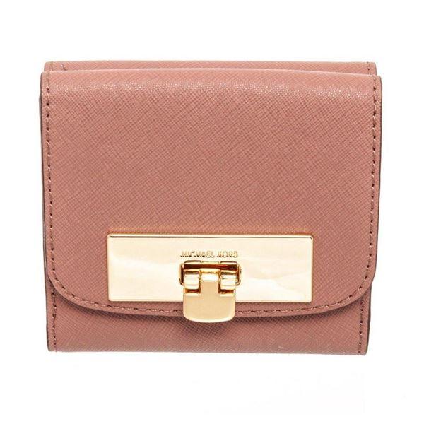 Michael Kors Mauve Leather Callie Trifold Wallet