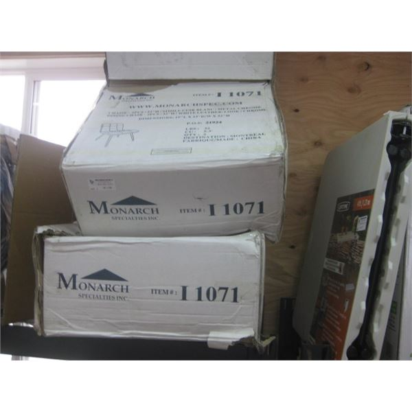 2 BOXES OF 2 CHAIRS MONARCH WHITE LEATHER LOOK DINING CHAIRS