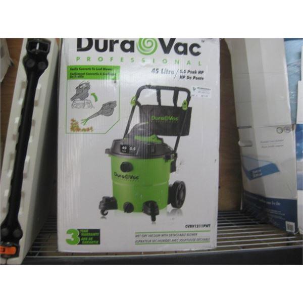 USED DURAVAC 45L SHOP VAC