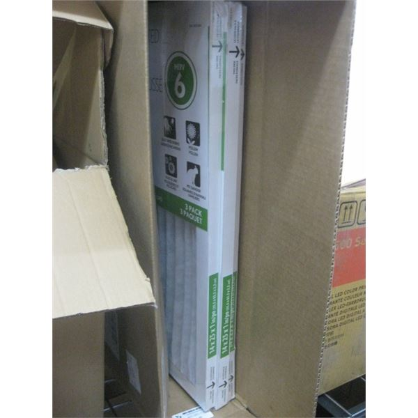 6PC 14X25X1 ELECTROSTATIC PLEATED FILTERS