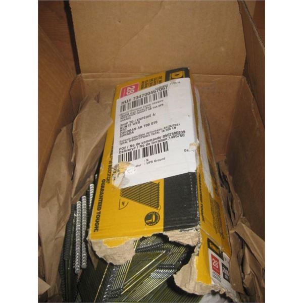 OPEN BOX DEWALT 3 INCH 28GAUGE FRAMING NAILS