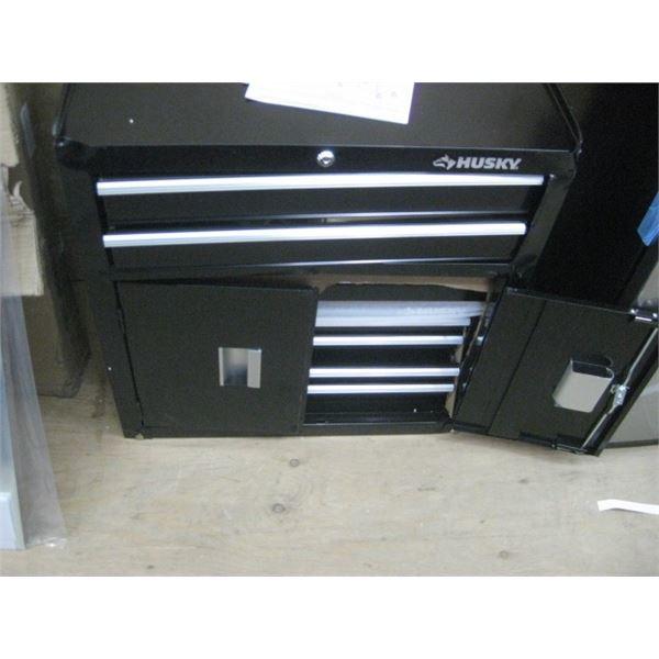 HUSKY 1000747092 26 INCH BLACK 6 DRAWER TOOL CABINET DENT