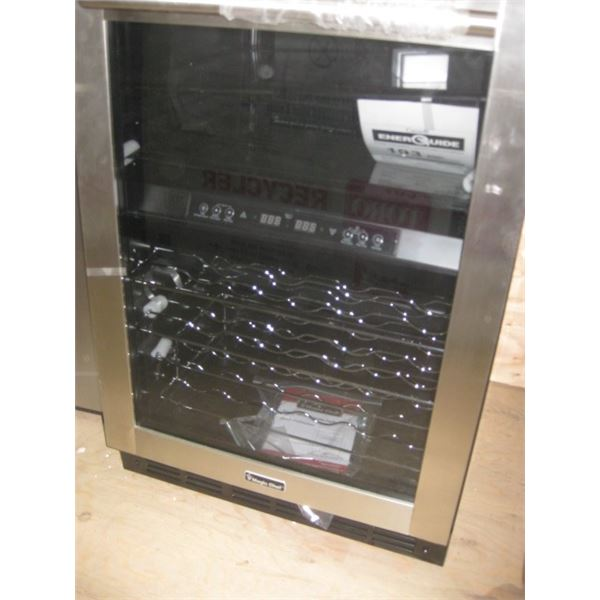 MAGIC CHEF BUILT IN OR FREE STANDING 44 BOTTLE DENTED WINE COOLER
