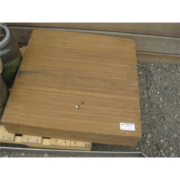 HEAVY USED BAMBOO COVERED UMBRELLA WEIGHT