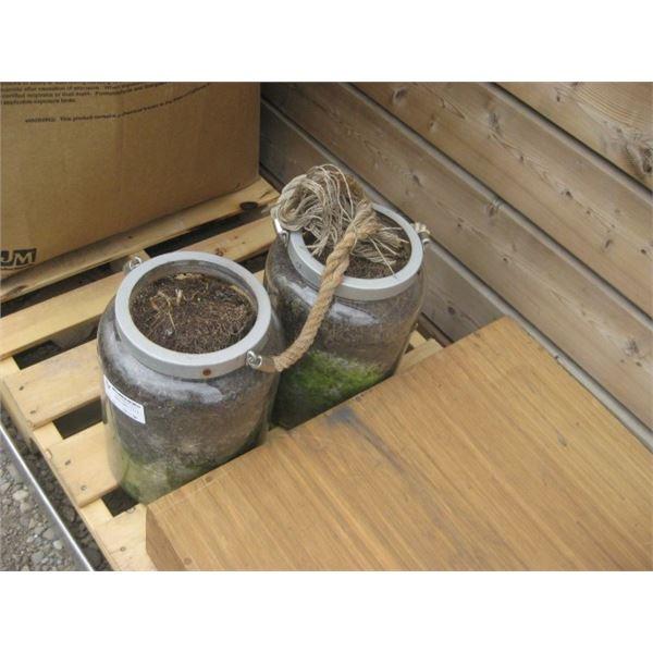 HANGING ROPE JAR PLANTERS