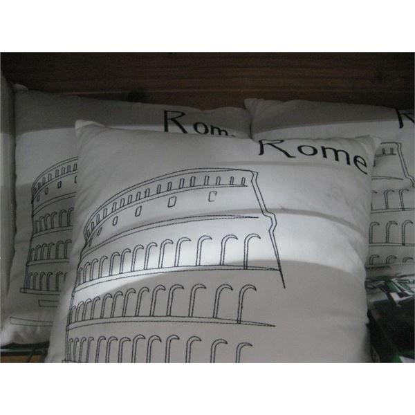 3PC ROME BED LAM THROW DECOR PILLOWS