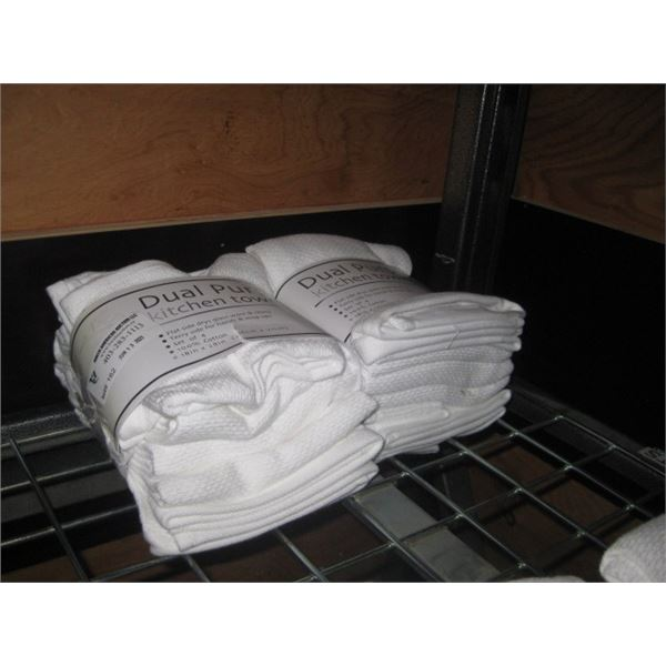 2 PACKAGES DUAL PURPOSE KITCHEN TOWEL SET OF 4