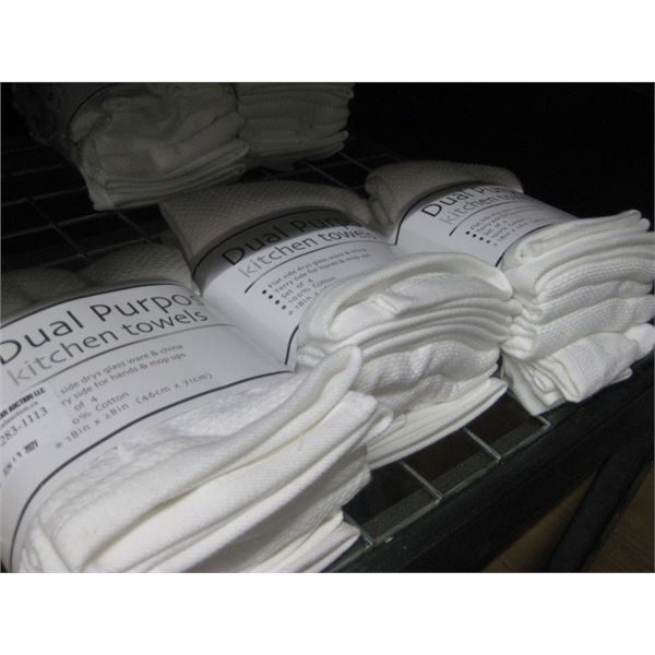 3 PACKAGES DUAL PURPOSE KITCHEN TOWEL SET OF 4