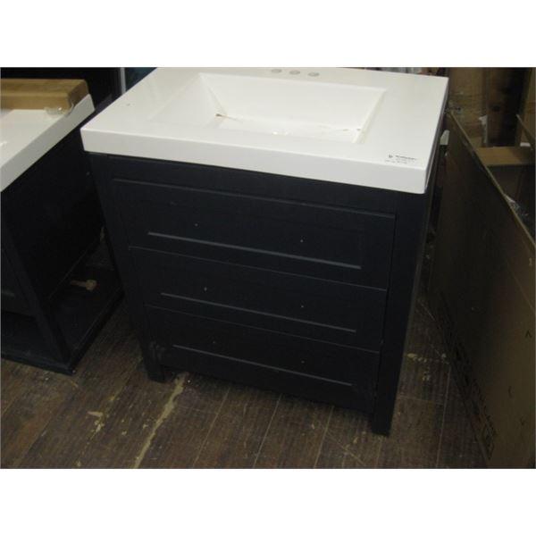 30 INCH GLACIER BAY BLUE VANITY NEW OPEN BOX
