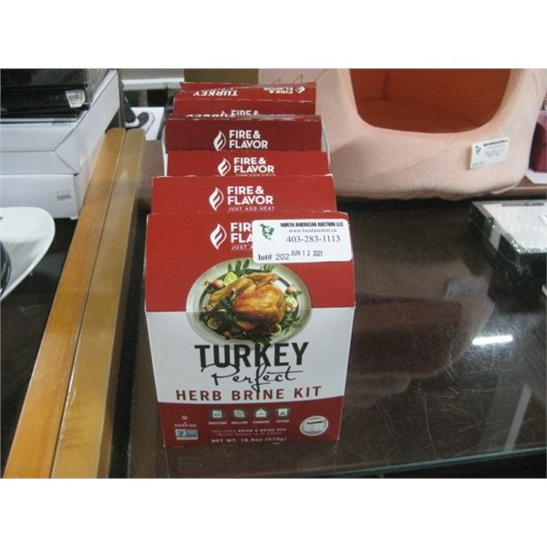 6PC FIRE AND FLAVOR TURKEY PERFECT BRINE KIT