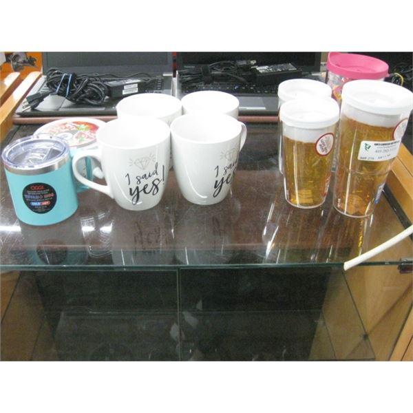 10 PC GLASSES / CUPS / SOUPER MUG