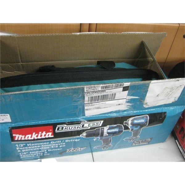 NEW MAKITA 1/2 INCH HAMMER DRILL / DRIVER 19 V W/ 2 BAT CHARGER