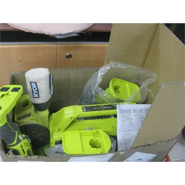 RYOBI ONE POWER TOOL KIT WITH CHARGE NO BATTERIES USED