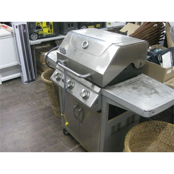 USED STAINLESS GRILL CHEF NATURAL GAS BBQ