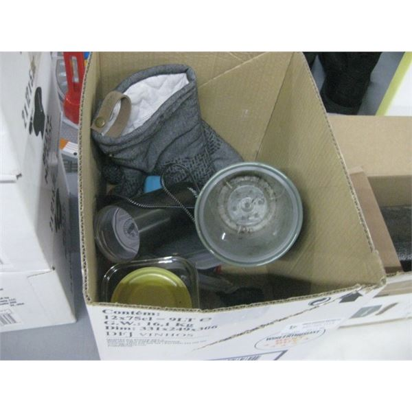 BOX OF ASSORTED KITCHEN WARE