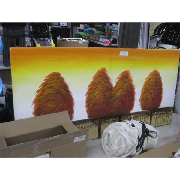 47 INCH TREES ON CANVAS