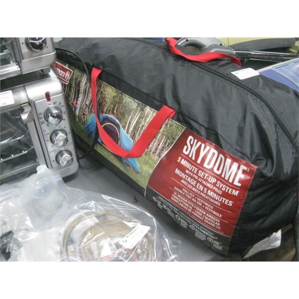 COLEMAN SKYDOME TENT USED