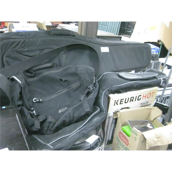 2 GUITAR BAGS AND LAPTOP BAG USED