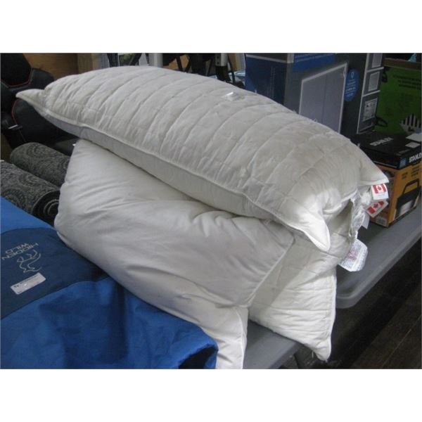 3PC USED FEATHER PILLOWS