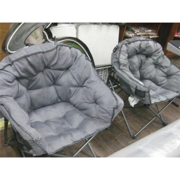 PAIR OF COMFY CAMPING CHAIRS