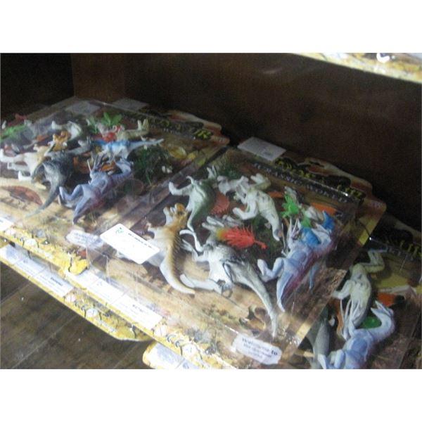5PC JURASSIC WORLD PLASTIC DINOSAURS