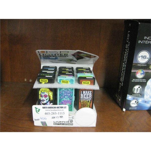 12PC USB LIGHTER BOTTLE OPENERS