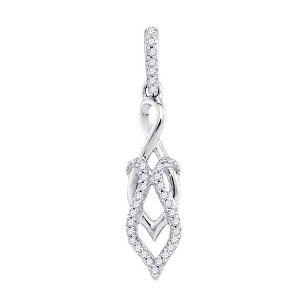 Round Diamond Fashion Pendant 1/10 Cttw 10KT White Gold